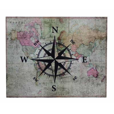 Map With Compass Graphic Art