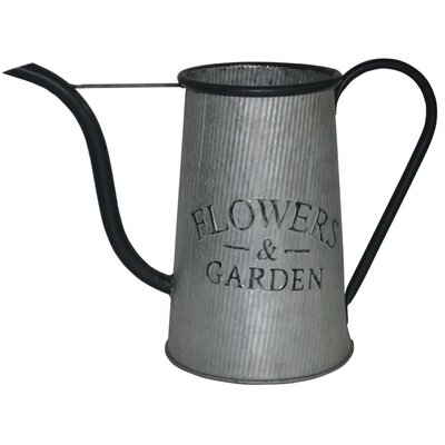 Decorative Metal Flowers and Garden Watering Can