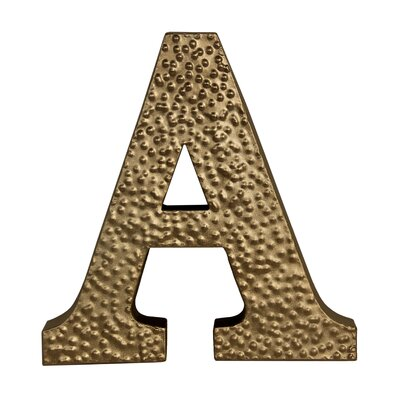 "Metal ""a"" With Hammered Accents Wall D"