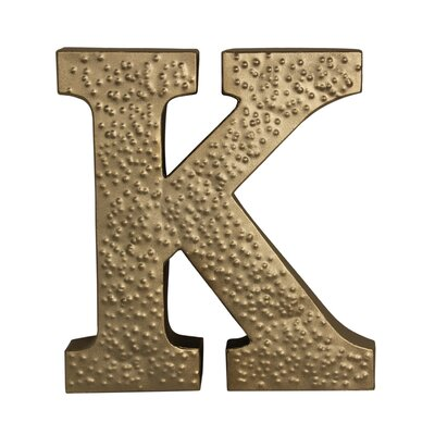 "Metal ""k"" With Hammered Accents Wall D"
