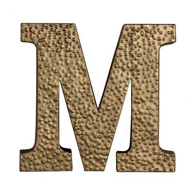 "Metal ""m"" With Hammered Accents Wall D"