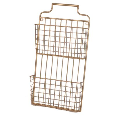 2 Tiered Metal Wall File Pocket