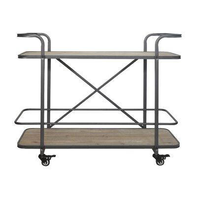 17 Stories Micheala 2 Tier Wood Bar Cart