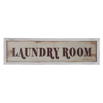 Wooden Framed Laundry Room Wall Décor