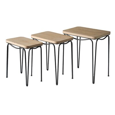 Camac Laminate Top 3 Piece Nesting Table