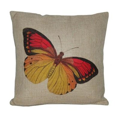 Butterfly Linen Throw Pillow
