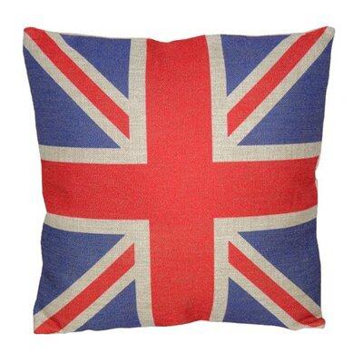 Union Jack Linen Throw Pillow Size: 18 H x 18 W