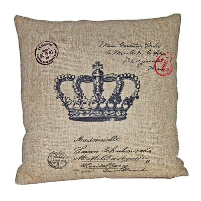 Crown Linen Throw Pillow