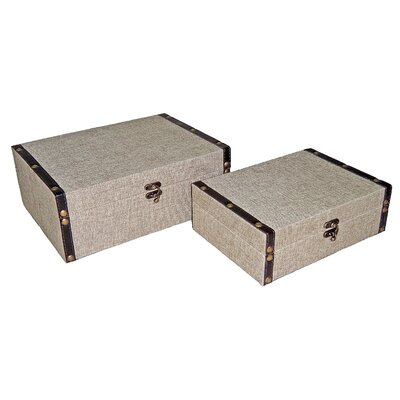 9 Rectangular Box in Plain Linen