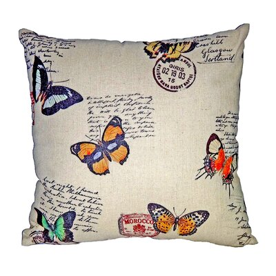 Assorted Butterflies Linen Throw Pillow