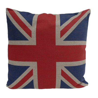 Union Jack Linen Throw Pillow Size: 22 H x 22 W
