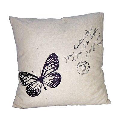 Butterfly Linen Throw Pillow