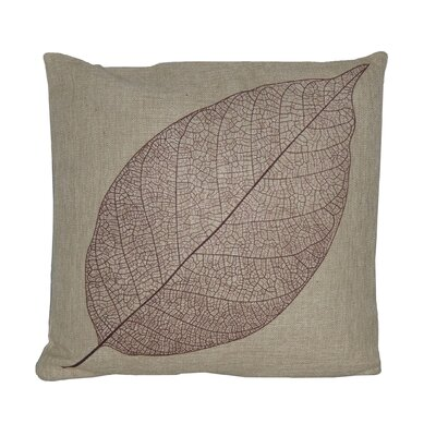Leaf Linen Throw Pillow