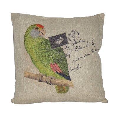 Parrot Linen Throw Pillow