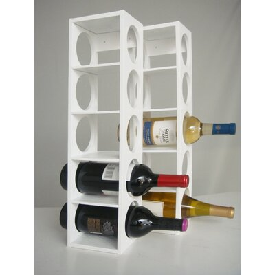 Rutherford 5 Bottle Tabletop Wine Rack Finish: White