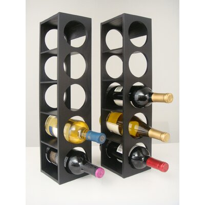 Rutherford 5 Bottle Tabletop Wine Rack Finish: Black