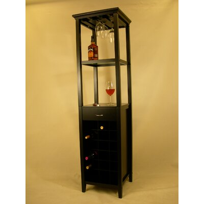 No credit check financing Galina 18 Bottle Wine Cabinet...