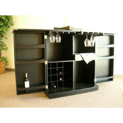 Steamer Trunk Bar Cabinet In Ebony