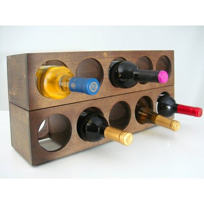 Rutherford 5 Bottle Tabletop Wine Rack Finish: Vine