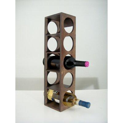 Rutherford 5 Bottle Tabletop Wine Rack Finish: Vine