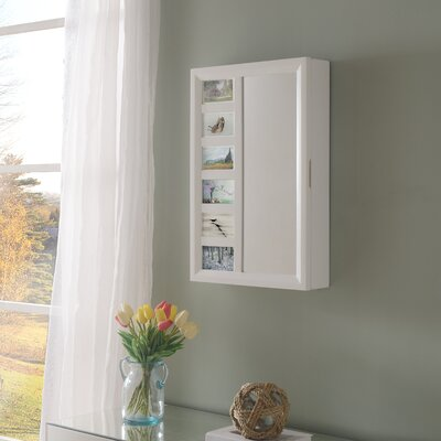 Tessa Wall Mounted Jewelry Armoire with Mirror Finish: White