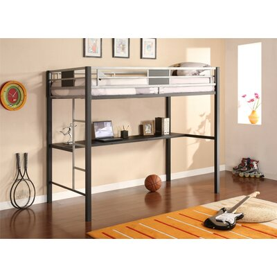 Silver Screen Twin Loft Bed