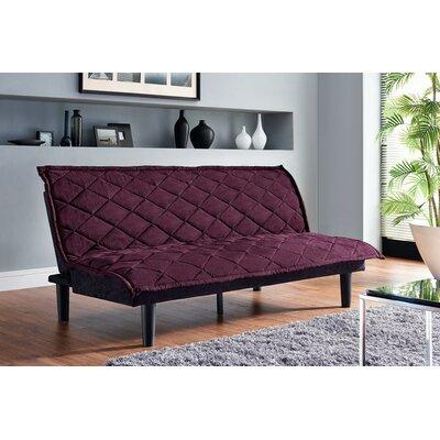 Lancaster Convertible Sofa Upholstery: Purple / Black