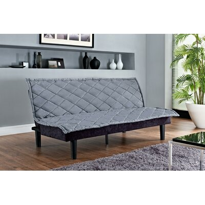 Lancaster Convertible Sofa Upholstery: Grey / Black