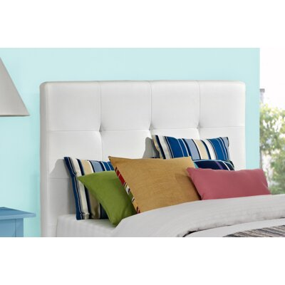 Florence Upholstered Panel Headboard Size: Queen, Upholstery: White