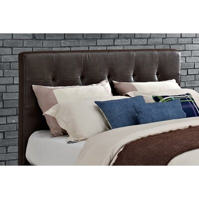 Florence Upholstered Panel Headboard Upholstery: Savage Brown, Size: Queen