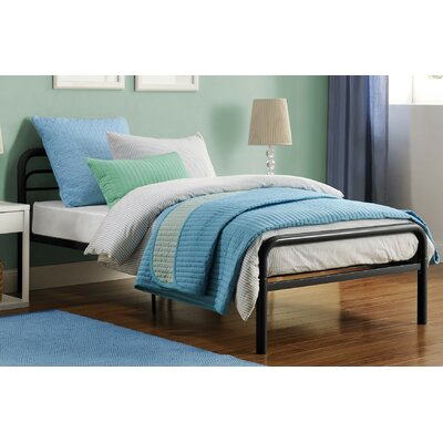 Baril Twin Platform Bed Color: Black