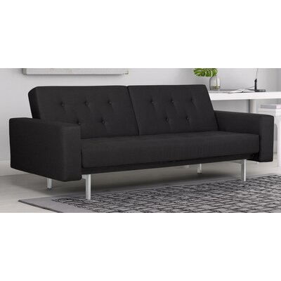 Robb Sleeper Sofa Upholstery: Black