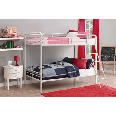 Maryanne Twin Over Bunk Bed Color: White