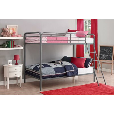 Maryanne Twin Over Twin Bunk Bed Color: Silver