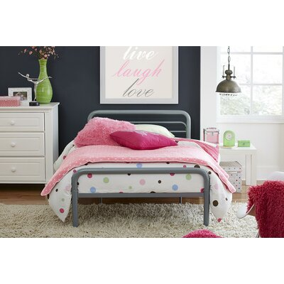 Twin Platform Bed Color: Gray
