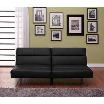 Everett Convertible Sofa Upholstery: Black