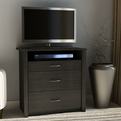 Constance 3 Drawer Media Dresser Color: Black Ebony Ash