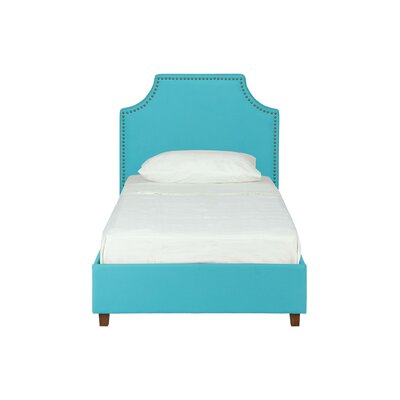 Jude Twin Upholstered Platform Bed Color: Teal, Size: Full