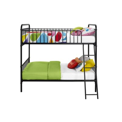 Novogratz Berkshire Twin Bunk Bed Color: Black