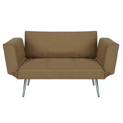 Euro Convertible Sofa Upholstery: Tan