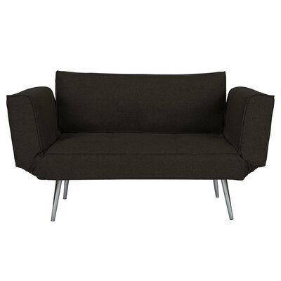 Euro Convertible Sofa Upholstery: Black
