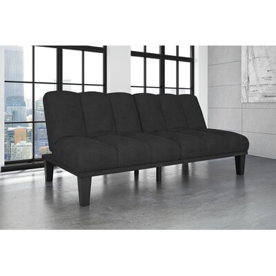 Picasso Convertible Sofa Upholstery: Black