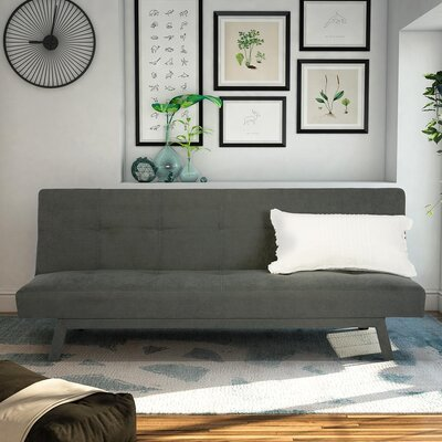 Oasis Convertible Sofa Upholstery: Gray