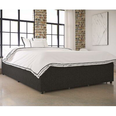 Maegan Gray Upholstered Platform Bed Size: Queen