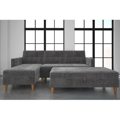 Stigall Sleeper Sectional Upholstery: Grey