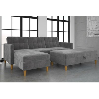 Stigall Reversible Sleeper Sectional Upholstery: Gray