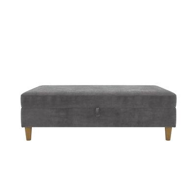 Stigall Storage Ottoman Upholstery: Black