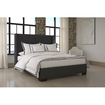 Doucet Wingback Upholstered Platform Bed Size: King