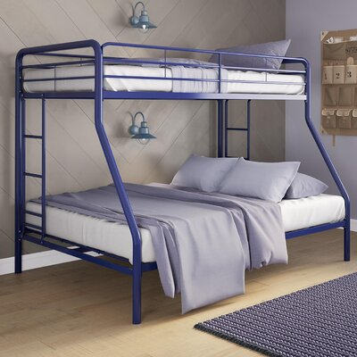 Dundressan Twin Over Full Bunk Bed Color: Navy