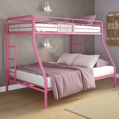 Dundressan Twin Over Full Bunk Bed Color: Pink
